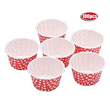100 Piezas Moldes de Papel para Muffins, moldes para cupcakes(Red): Amazon.es: Hogar