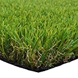 Artificial Grass Turf Lawn Fake Grass Thick Synthetic Turf Carpet Indoor Outdoor Garden Lawn Landscape Rubber Backed with Drainage Holes,1.77inch Pile Height (10ft x 5ft = 50 sqaure ft)