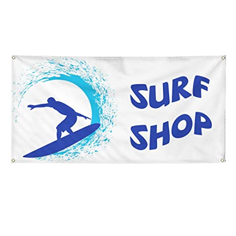 Vinyl Banner Sign Surf Shop #1 Style A Business Surfing Marketing Advertising White Multiple Sizes Available 4 Grommets 28inx70in Set of 2