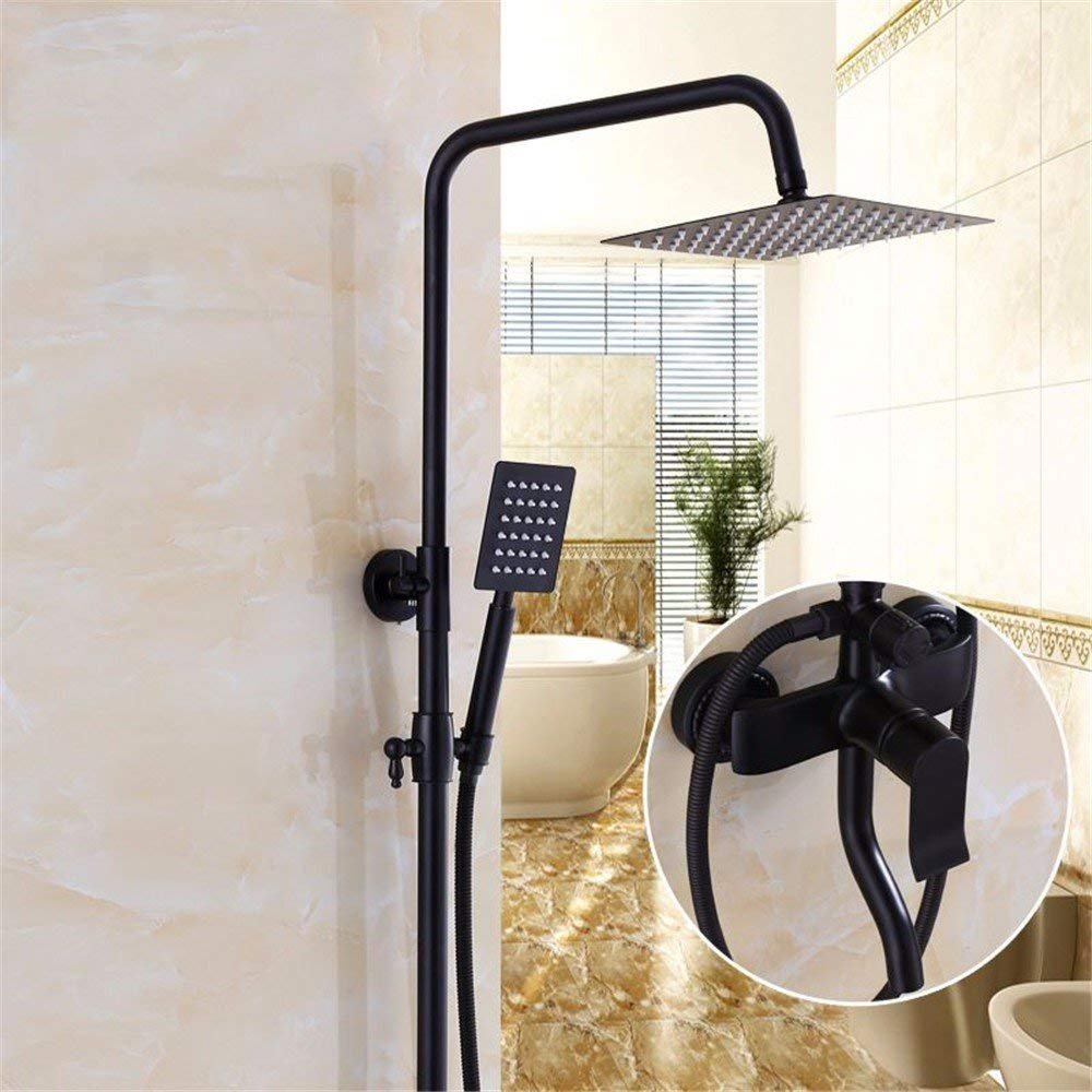 C in The European Style Black Faucet Shower Bath Rooms Fully Charged of Copper to The Wall Shower timely, I