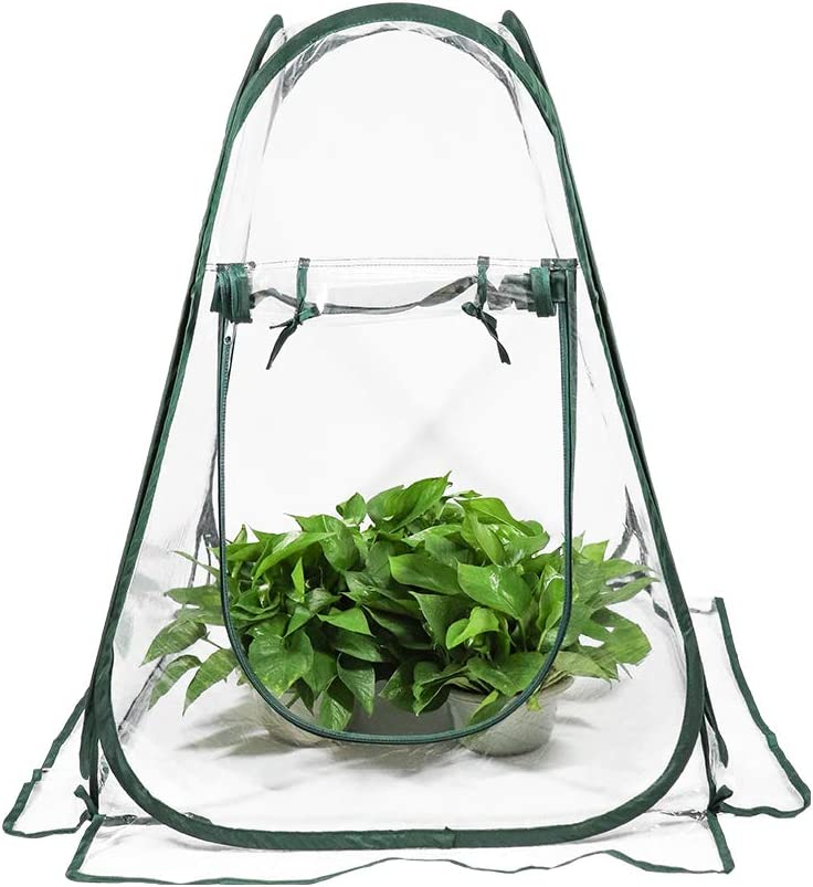 ValueHall Mini Greenhouse Pop up Grow House Backyard Garden Plant Tent Greenhouse Cover Outdoor Portable Backyard Flower Shelter V7094