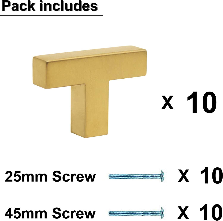 acero inoxidable Probrico lat/ón cepillado acero inoxidable 20 Pack Tiradores para cajones de cocina Hole Center: 128mm color dorado
