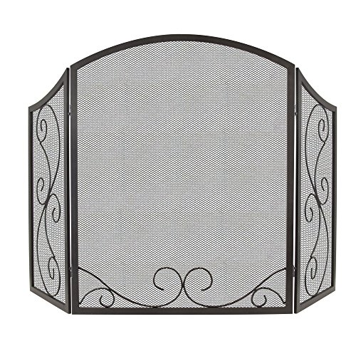 Pleasant Hearth FA995S Iris Scroll Fireplace Screen