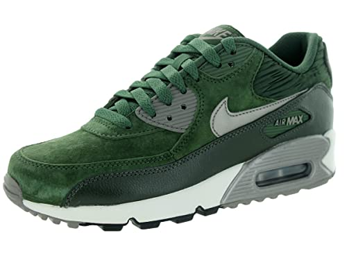 Nike Air MAX 90 Lthr de la Mujer Running Shoe, (Carbon Green