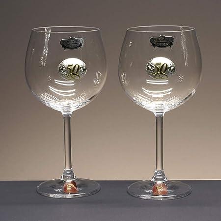 la galaica | - Set de 2 Copas de Cristal de Vino o Agua | Regalo ...