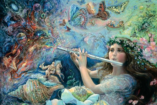 24x36 Poster Print Enchanted Flute Josephine Wall ()