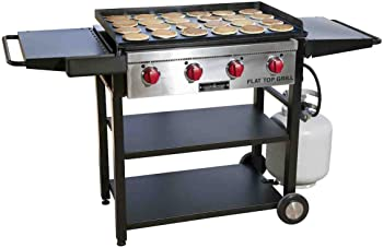 Camp Chef Flat Top Grill 600 (FTG600), Best Professional Restaurant Grade 2-in-1 Cooking Grill