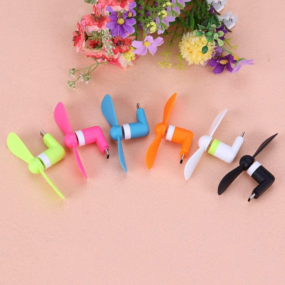 5pcs USB3.1 Type C Portable Fan Cell Phone Mini Electric Fan Cooling Cooler for Type C devices Smartphone Tablet PC PrinceShop