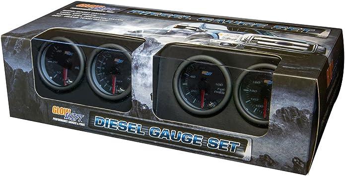 Mounting Pod 52mm Black 4 100psi Diesel Truck Fuel Pressure Gauge