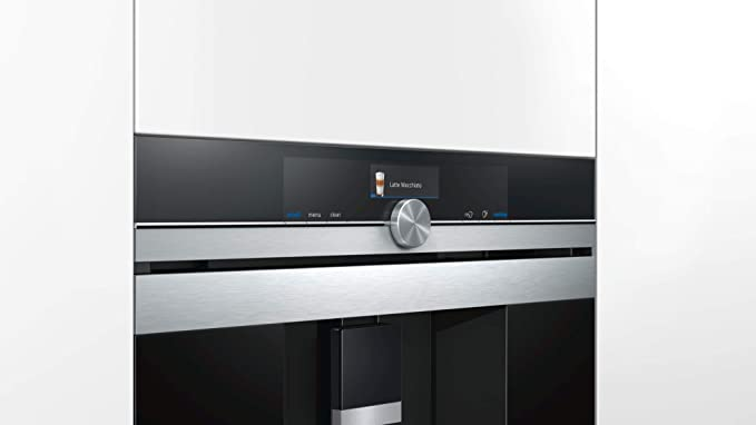 Siemens CT636LES6 Cafetera integrable, 19 bares negro, inox h ...