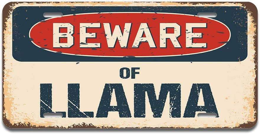 RV SUV SignMission Beware of Landon Aluminum License Plate 12 X 6 Fits Any Car Truck or Trailer Made in The USA