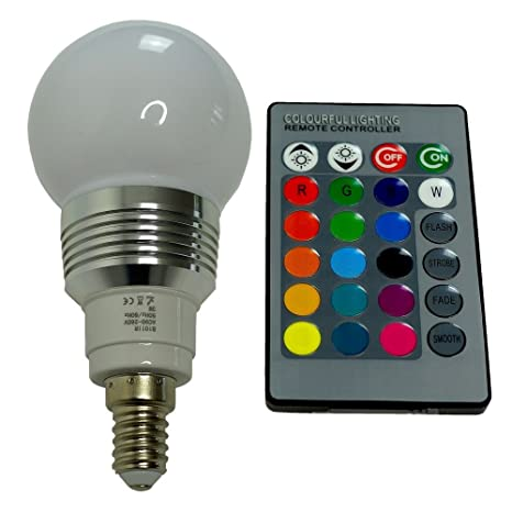 b101ir – Bombilla LED (3 W, E14) con mando a distancia de infrarrojos