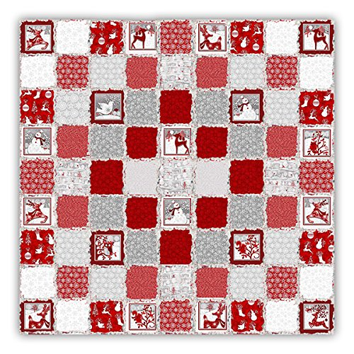 Holiday Frost Extra Large Flannel RagStyle Snuggler Quilt Kit
