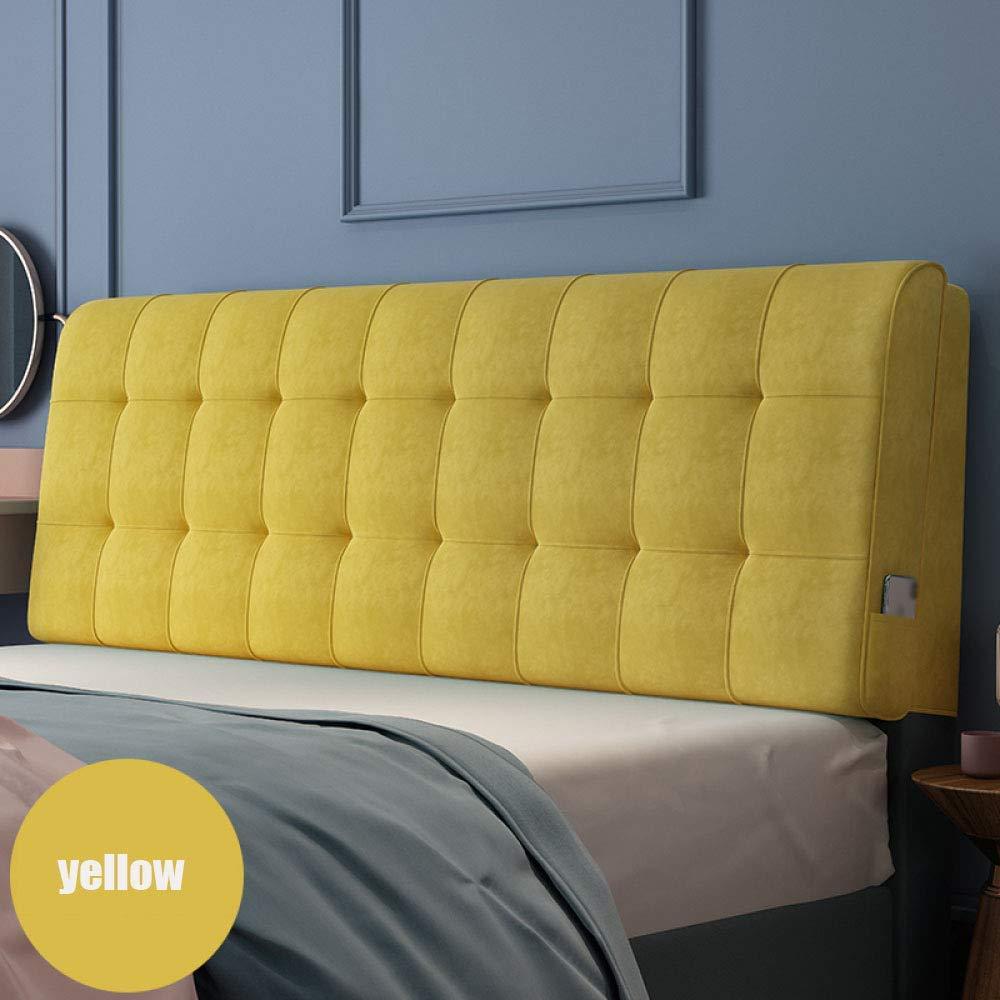 ZGYQGOO Gepolstertes Kopfteil Kopfteil Kissen Sofa Große Doppelbetten Zurück Haushalt Waschbar(mit Kopfteil), C-190 * 60 cm