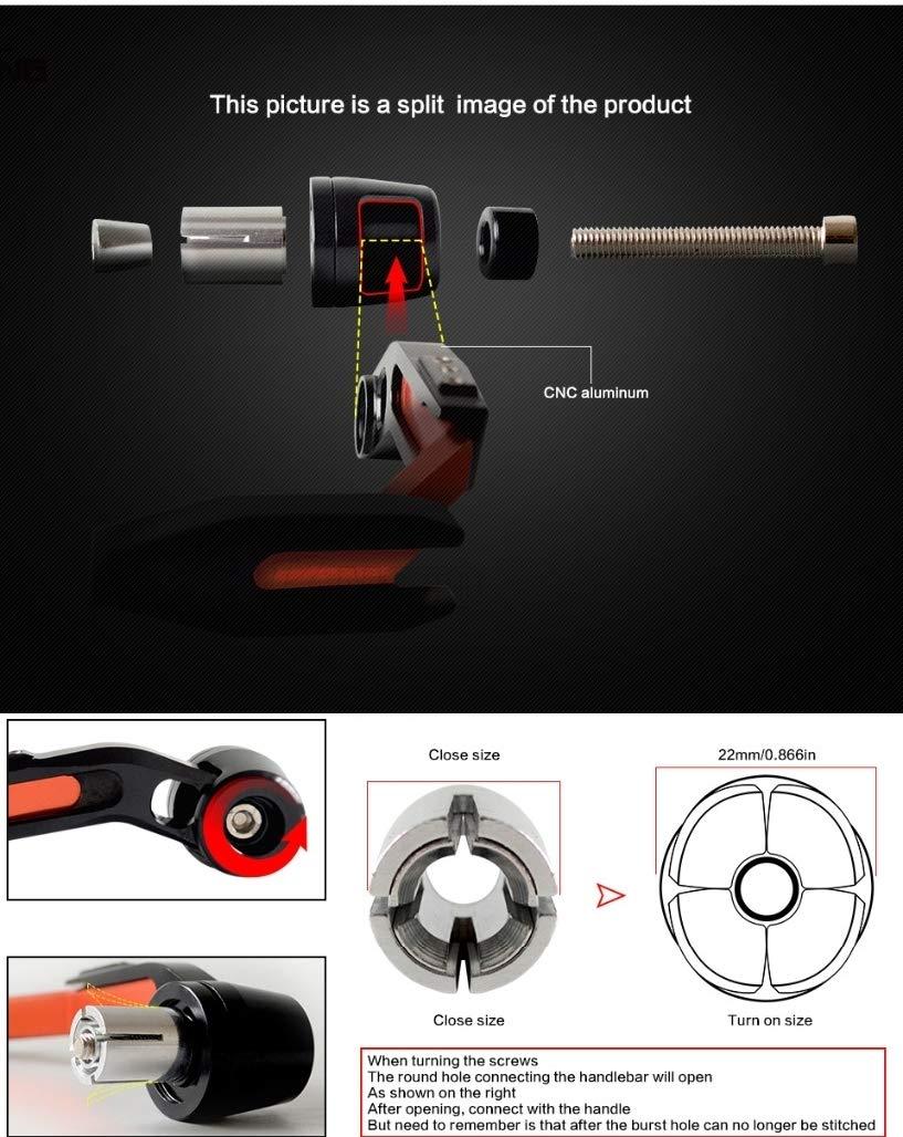 LanLan Accessori per Moto 22mm Paramani Manubrio Moto Proguard Freno Sistemi di Frizione Leve Proteggere Blu