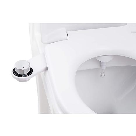 BisBro Deluxe Chrome Bidet | Dusch-WC zur optimalen Intimpflege | Einfach unter dem Klodeckel installieren | funktioniert ohn