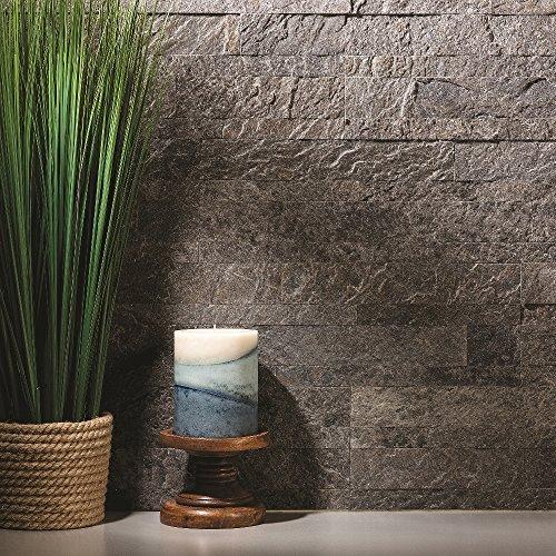 Aspect Peel and Stick Stone Overlay Kitchen Backsplash - Frosted Quartz (approx. 15 sq ft Kit) - Easy DIY Tile Backsplash