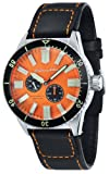 Spinnaker Hass Diver Men's Automatic Watch with Orange Dial Display on Water Proof Genuine Leather Strap SP-5032-02