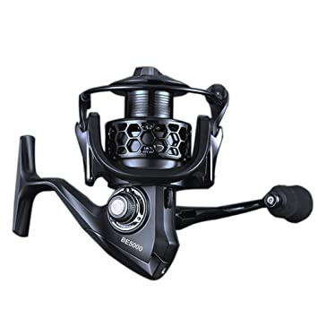 Carrete de Pesca iRegro Spinning Carretes 5.1:1 rodamientos Gear Ratio 12+1 izquierda / derecha intercambiable plegable mango Spinning Carretes: Amazon.es: ...