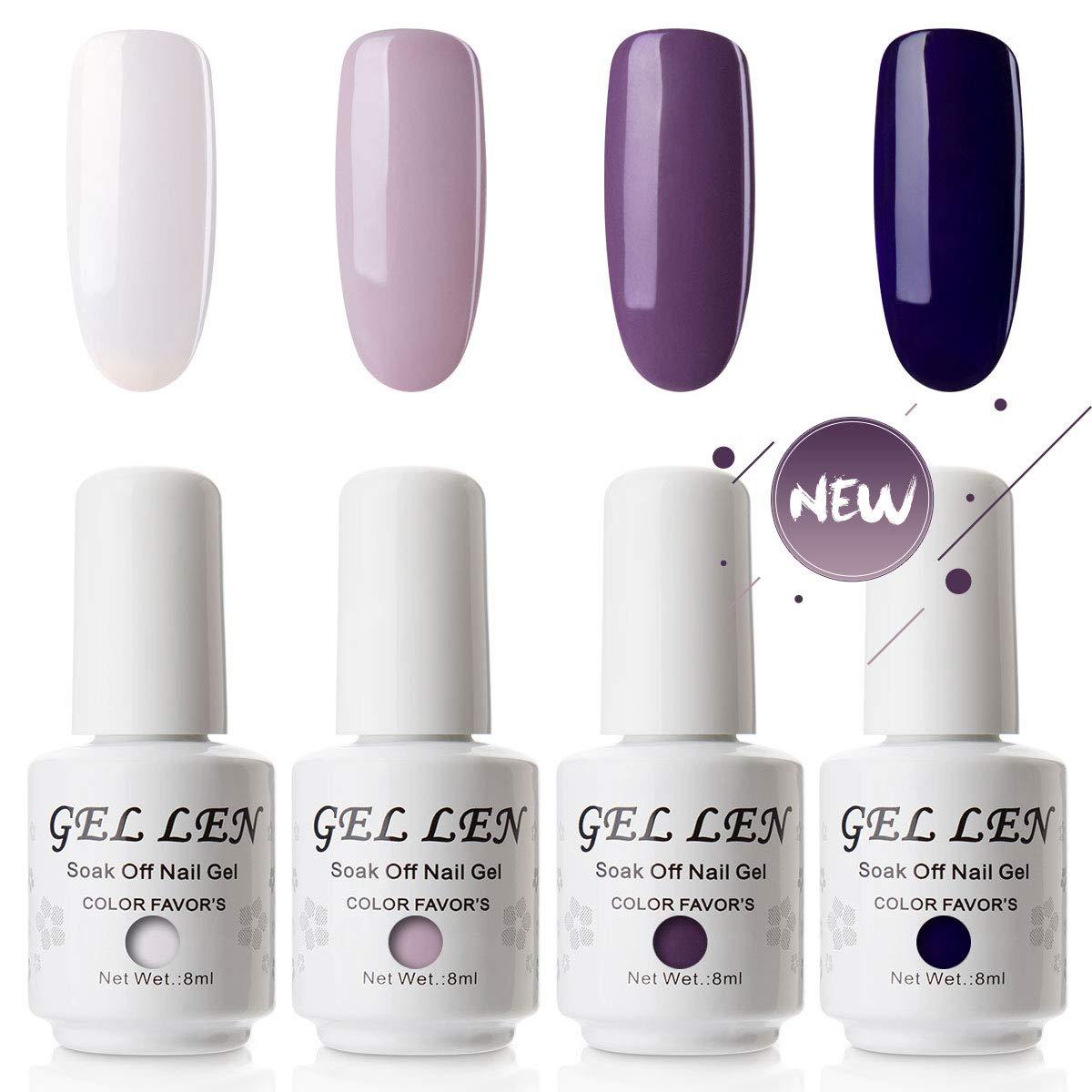 Vernis Gel Semi Permanent - Gellen Vernis à Ongles Nail Gel UV LED Soak off Manucure Kit 6×8ml, Nouveauté 03 Ltd.