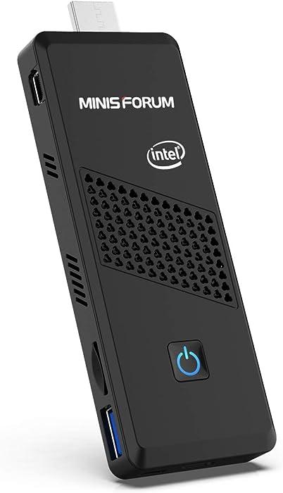 Mini PC Stick Intel Celeron N4120(up to 2.6GHz), Windows 10 Pro Mini Desktop Computer,DDR4 4GB/64GB eMMC,UHD 4k@60Hz,Support HDMI2.0a& Mini DP, USB3.0, 2.4/5.8G Wi-Fi,BT5.0