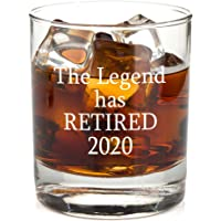 The Legend Has Retired - Funny Retirement Gag Gift Idea for Women or Men – Happy Retirement Gifts For Office Coworkers, Him, Her - 11 oz Bourbon Scotch Whiskey Glass