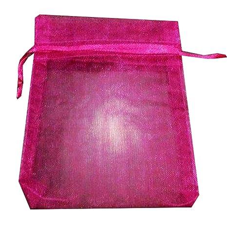 Hilai - 25 bolsas de regalo de organza para boda, 9 x 12 cm ...