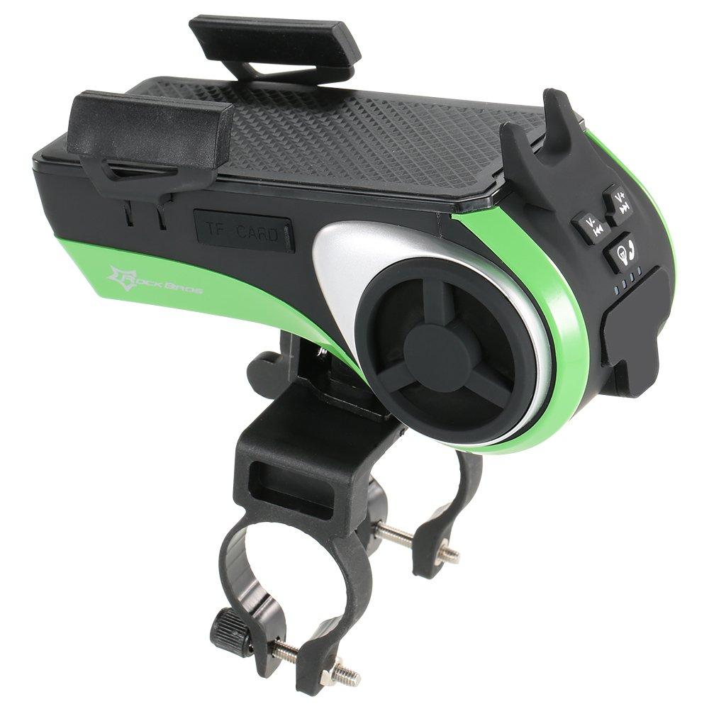 1Pc Bicycle Ring Bell LED Light Multifunctional Bike Bluetooth Audio Phone Holder Bracket MP3 Player Speaker 4400mAh Power Bank