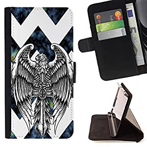 - chevron anchor boat - - Prima caja de la PU billetera de cuero con ranuras para tarjetas, efectivo Compartimiento desmontable y correa para la mu?eca FOR Apple iPhone 5 5S King case