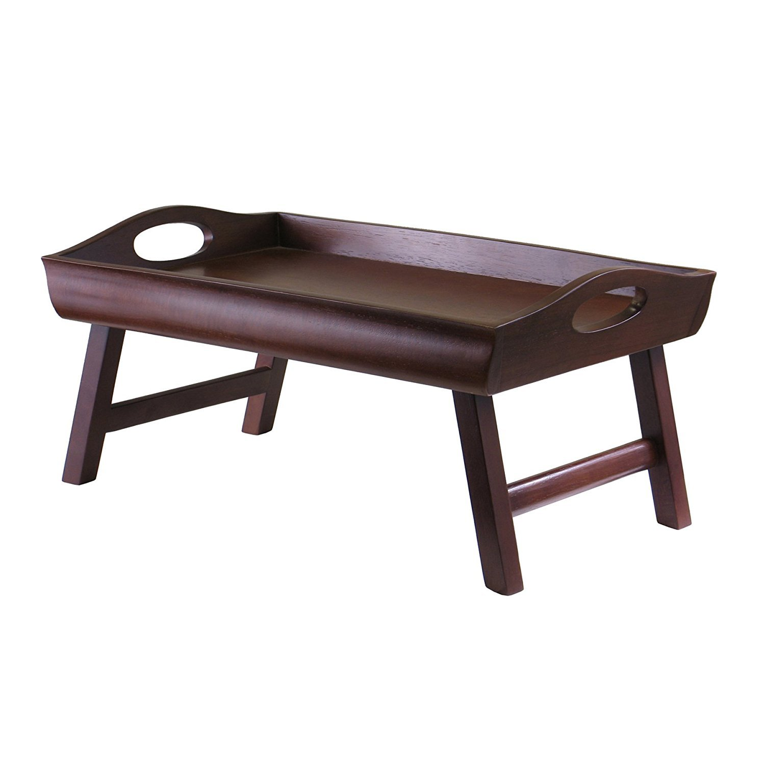 Winsome Wood Sedona Bed Tray Curved Side, Foldable Legs, Large Handle (4) by Winsome Wood