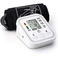 SEEDARY Tensiómetro de Brazo, Pulsómetros y Monitor de Presión Arterial Automático con Pantalla LCD Grande y Transmisión de Voz en Español, 2 * 99 Memorias,Validado Clínicamente , CE & RoHS, Color Blanco