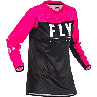 Fly Racing 2020 Women's Lite Jersey (Small) (NEON Pink/Black): Automotive
