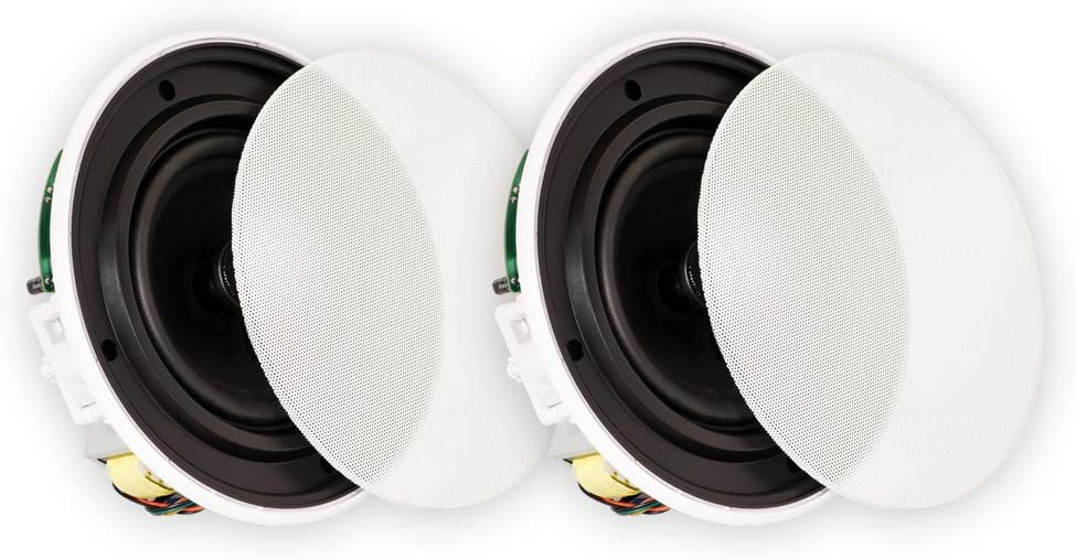 "Theater Solutions TSQ670 In Ceiling 70 Volt 6.5"" Speakers Quick Install Pair"