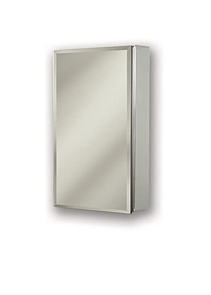 Jensen 72SS244D Gallery Medicine Cabinet With Beveled Mirror, 15 Inch By 25  Inch