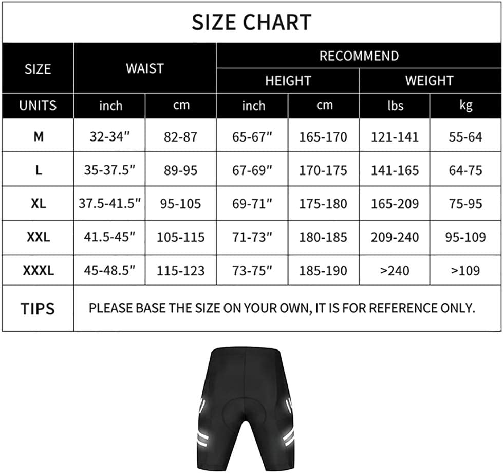 Cycling Shorts with Shockproof Pad Elastic Breathable Quick-Dry MTB Bike Briefs Outdoors Cycling Pants for Mountain Downhill Sports LXZH Cycling Underwear 5D Gel Padded Men