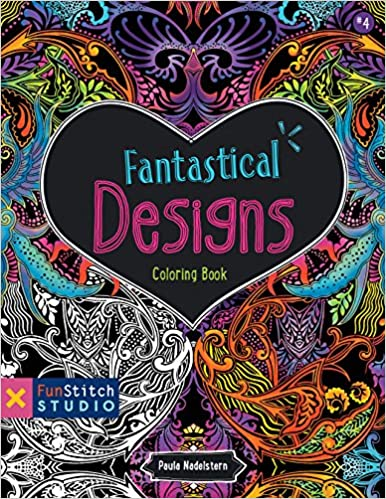 Fantastical Designs Coloring Book 18 Fun See How Colors Play Together Creative Ideas Stitch Studio Paula Nadelstern