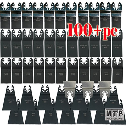 MTP Tm 100+ Japan Fine Wood Blade Quick Release Universal Fit Multi Tool Oscillating Multitool Saw Blade for Craftsman 20v Bolt-on Mm20 Rockwell Hyperlock Shopseies Fein Multimaster Porter Cable Black & Decker Bosch Milwaukee Makita Chicago Voss by MTP-Quick Release