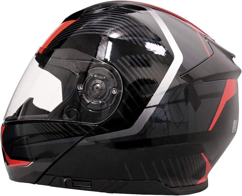 XS-XXL 59-60cm Motorradhelm Blau//Grau//Schwarz L Leopard LEO-888 Doppelvisier Klapphelm Integralhelm Damen und Herren ECE Genehmigt