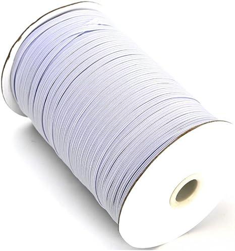 Braided Elastic 1//4 Wide 144 Yards White