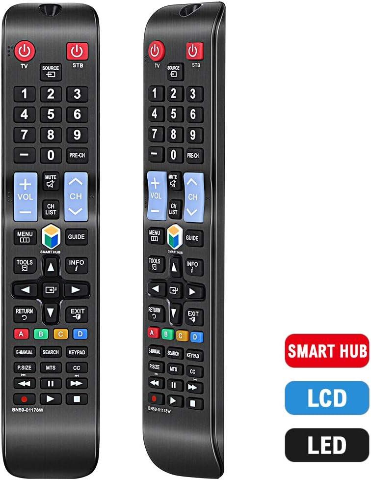 Mando a Distancia de Repuesto Compatible con Samsung UN46H6203AF, UN50H5203AF UN50H6201AF, UN50H6203AF, UN55H6203AF, UN55HU6830F, UN58H5202AF, UN60H6203AF, UN65H6203AF: Amazon.es: Electrónica