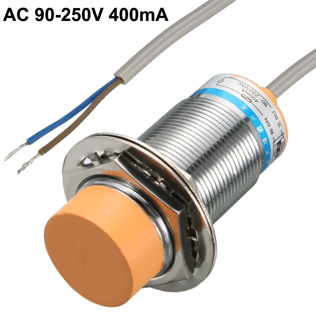uxcell LJC18A3-B-J//DZ 2-Wire AC 90-250V 400mA 10mm NC Capacitance Proximity Sensor Switch a15120500ux0411