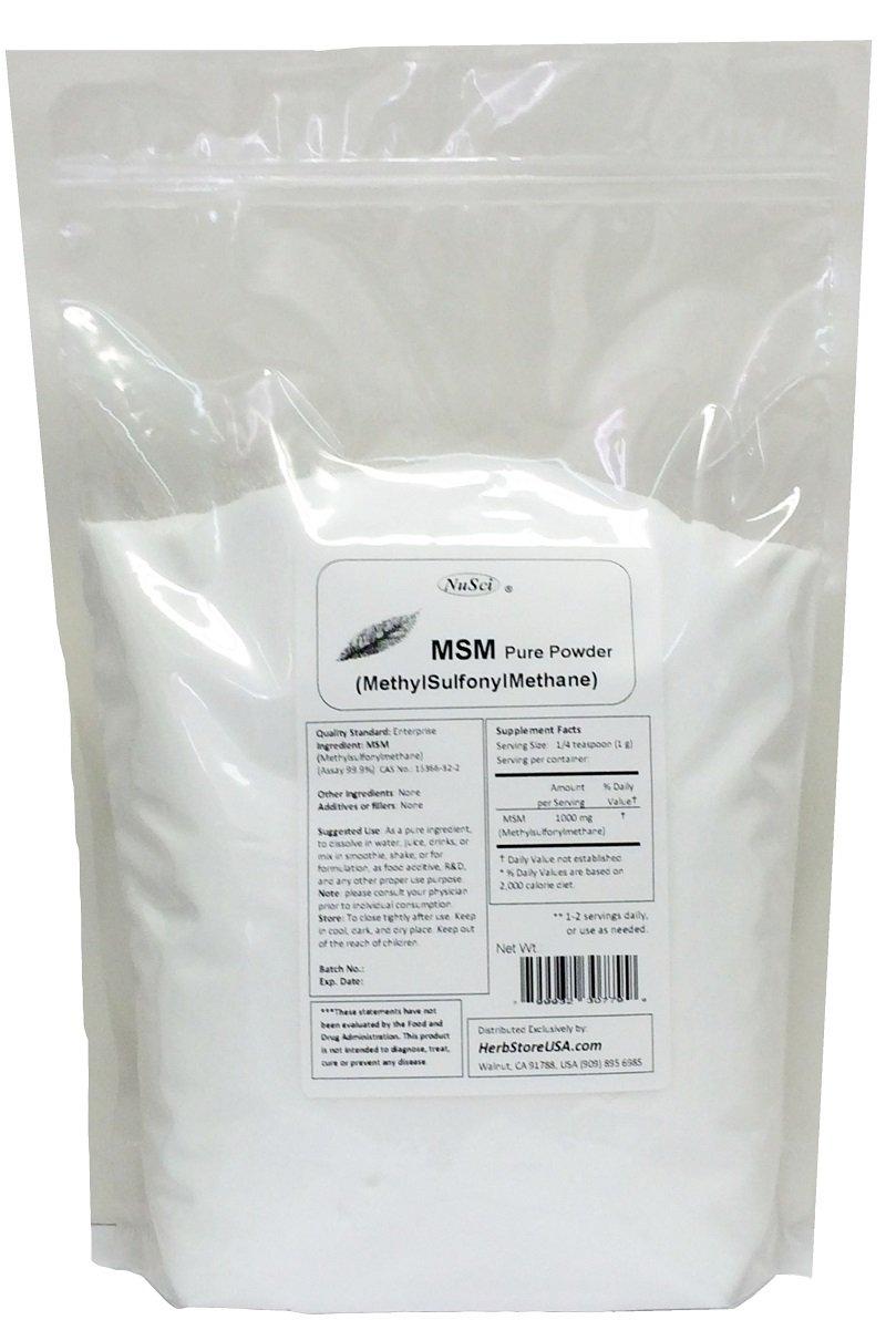 NuSci MSM (Methylsulfonylmethane) Pure Powder (4000 Grams (8.8 lb))