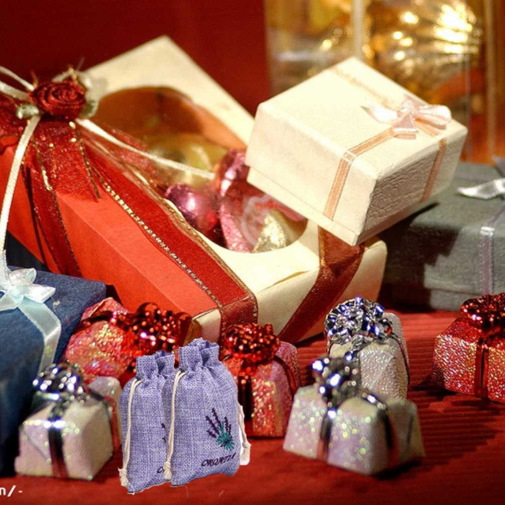 Cabilock 10pcs Sac de Cordon de Lavande Lin Bonbons Cadeau Sac Emballage sachets sachets Sac de Stockage pour f/ête de Mariage