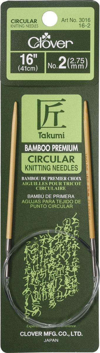 Aguja Circular Clover Takumi Bamboo 41cm  - 2
