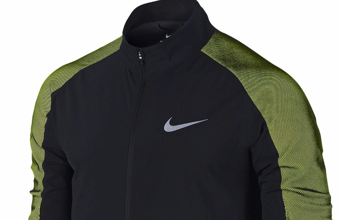 f2574b8a7b3c Amazon.com  NIKE New Mens Dri-FIT Black and Volt Stadium Jacket (Large)   Sports   Outdoors
