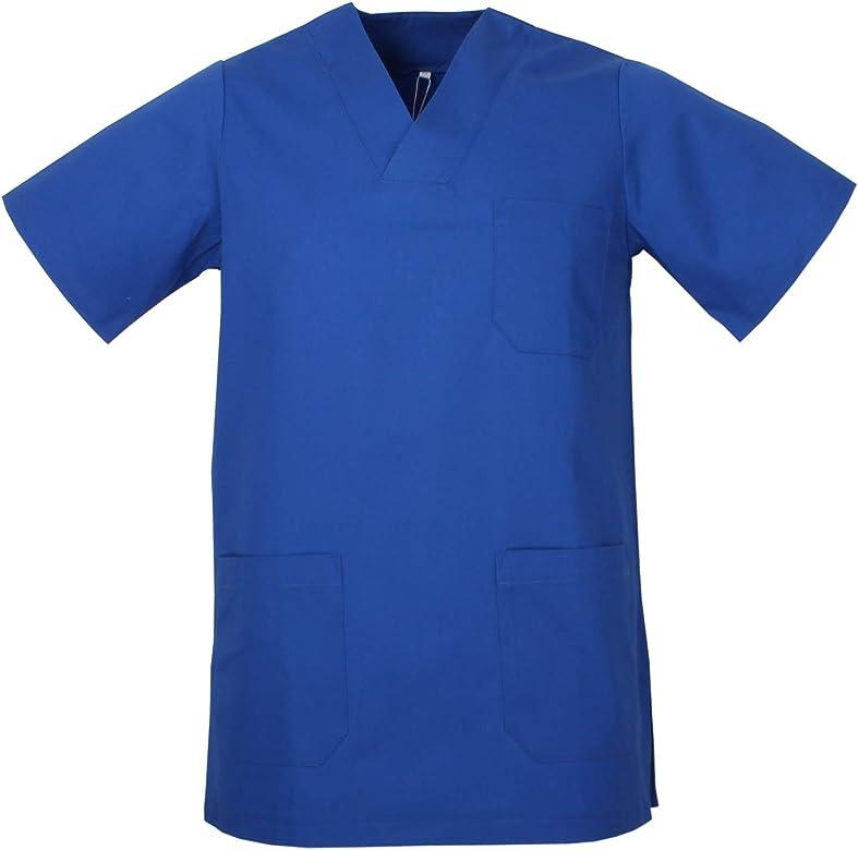 MISEMIYA - Casaca Unisex MÉDICO Enfermera Uniforme Limpieza Laboral ESTÉTICA Dentista Veterinaria Sanitario HOSTELERÍA - Ref.817 - XS, Azul Royal: Amazon.es: Ropa y accesorios