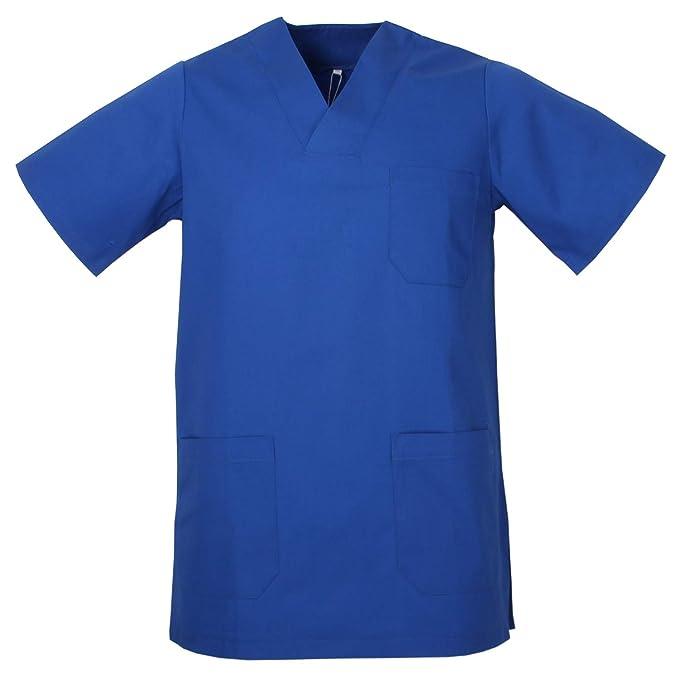 MISEMIYA Casaca Camisa Sanitrio Unisex Uniforme Laboratorios,Azul 11-XS