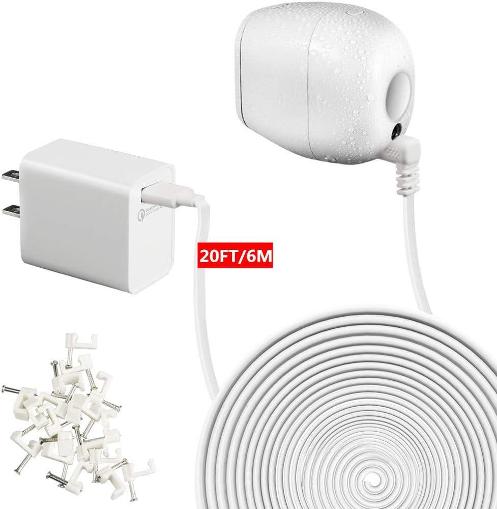 Holaca resistente a la intemperie al aire libre de carga Cable /& Adaptador Para Arlo Ultra 20ft//6m