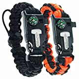 Best Planet Dog Dog Whistles - Paracord Planet Tactical Paracord Bracelet (2 Pack) Review