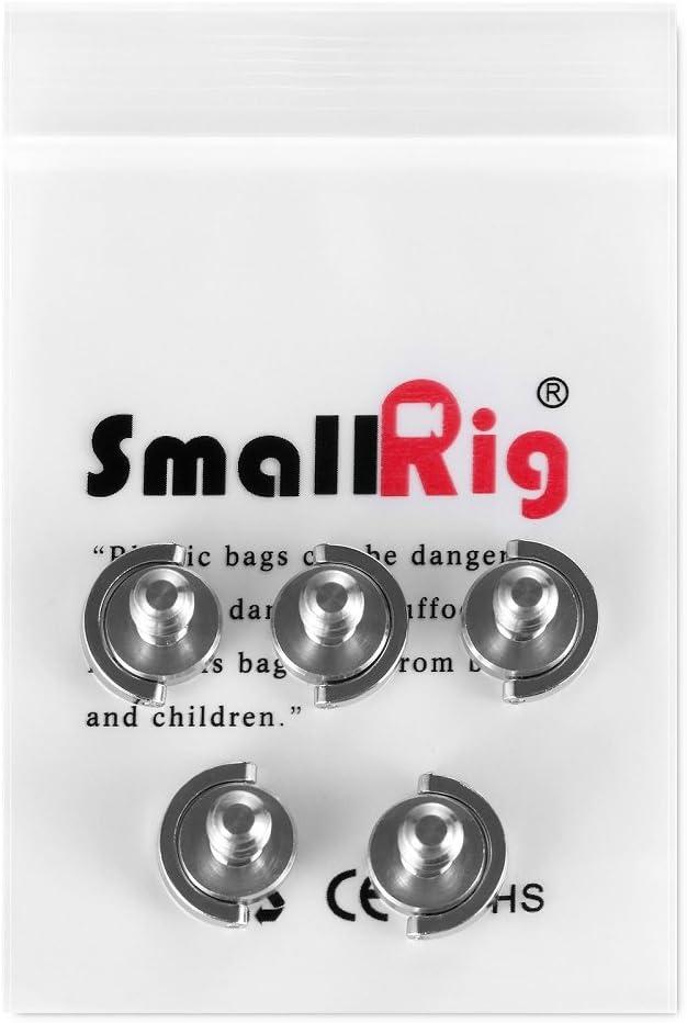 1611 SMALLRIG 5 St/ück 1//4 Schraube D-Ring Klappschraube Kamera Befestigungsschraube 1//4 Gewinde f/ür Kamera//Stativ Qr Platte